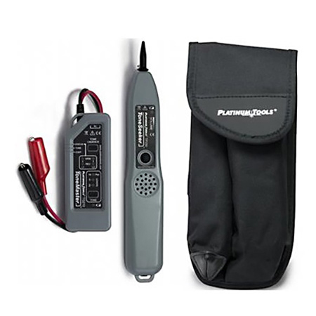 Platinum Tools TG210K1 Professional Tone and Probe Kit - Alligator Clips with Belt Pouch