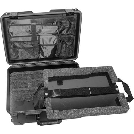 Pliant Technologies PAC-CC-4CASE CrewCom 4-Up Travel Case with Custom Foam and Lid Organizer