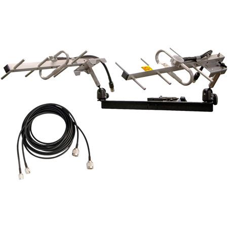 Pliant Technologies PAN-YA906-KIT 900MHz 6dBi Dual Yagi Antenna Kit with Mount Hardware