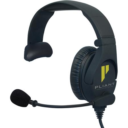 Pliant Technologies PHS-SB110-U SmartBoom Pro Single-Ear Dynamic Headset - Unterminated Cable