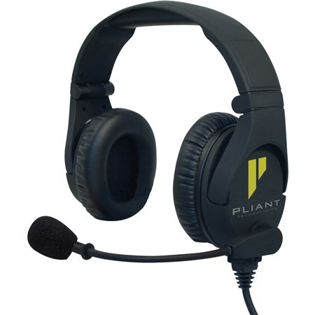 Pliant Technologies PHS-SB210-4F SmartBoom Pro Dual Ear Dynamic Headset - 4-Pin XLR Female Connector