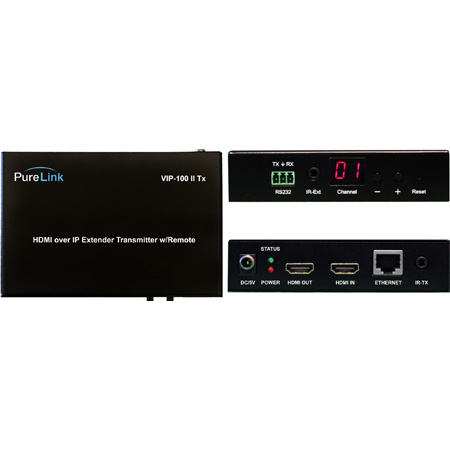 PureLink VIP-100H-II-TX HDMI over IP Transmitter (Encoder) with PoE