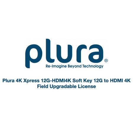 Plura 4K Xpress 12G-HDMI4K Soft Key 12G to HDMI 4K - Field Upgradable License
