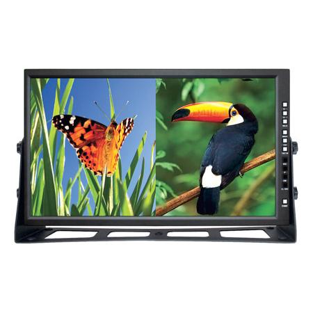 Plura LCM-123-3G 23in Multi-Format 3G HD-SDI Monitor - Dual Display Capability