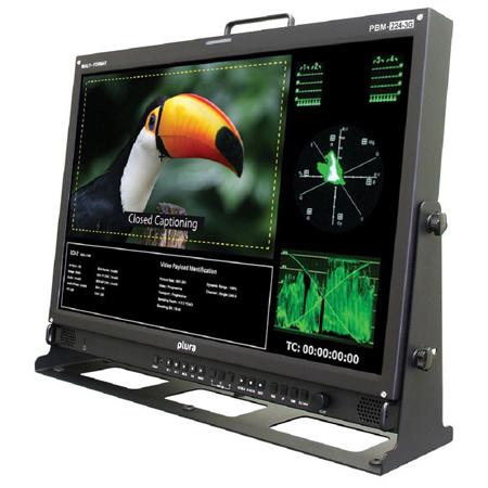 Plura PBM-224-3G-10 24 Inch 3G Broadcast Monitor (1920x1200) Class A- 3Gb/s - 10 Bit Panel