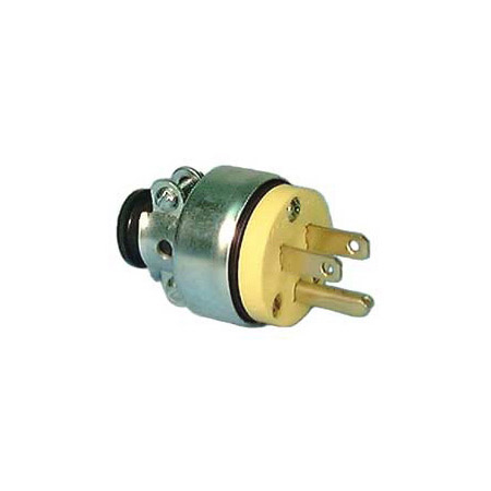 15A-125V NEMA 5-15P  Commercial Grade Vinyl Armored 3-Prong AC Male Plug Yellow