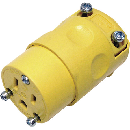 Leviton 515CV Commercial Grade 15 Amp 5-15R 125V 3-Prong AC Receptacle Yellow