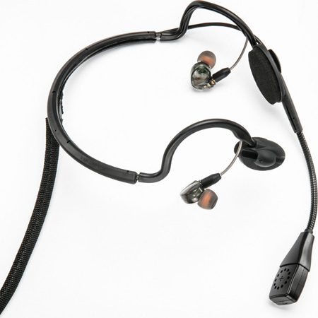 Point Source Audio CM-i3-4F Dual In-Ear Intercom Headset with 4-Pin Female XLR