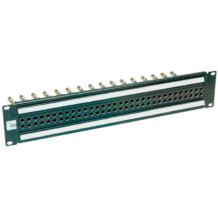 ADC-Commscope PPE2232-MVJ-BK 2RU2x32 Mid-Size HD Normalled Video Jackfield Non-Terminating - Black