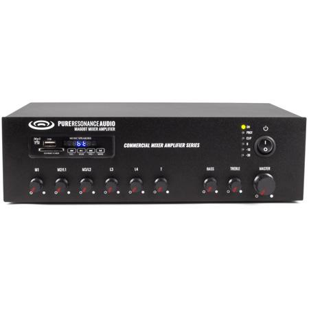 Pure Resonance Audio PRA-MA60BT 60 Watt 7 Channel Commercial Mixer Amplifier with Bluetooth