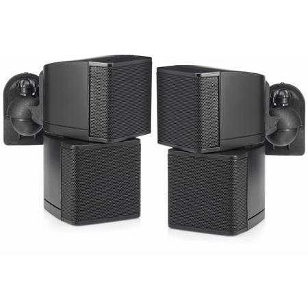 Pure Resonance Audio PRA-MC2.5B 2.5 Inch Swiveling Cube Speaker with Brackets - Pair