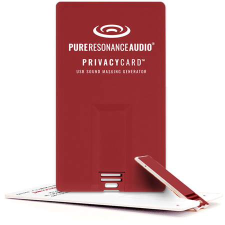 Pure Resonance Audio PRA-PRIVACY-WHT USB Sound Masking Generator Privacy Card - White Noise