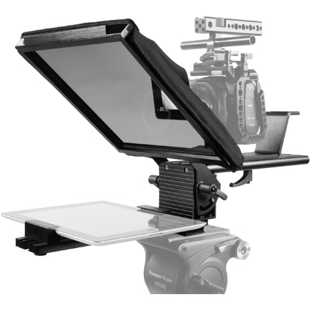 Prompter People PAL-iPAD Teleprompter with Tablet Cradle - 10x10 Glass - iPHONE and Camera Mounts and Case