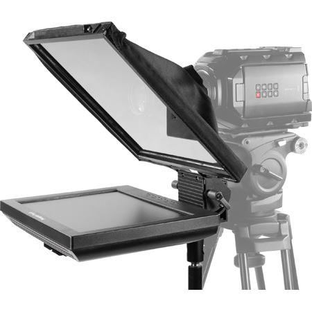 Prompter People PAL12-FS Teleprompter with 12inch Rev. Monitor - Software - 12x12 Glass - iPHONE Mount / Stand and Case