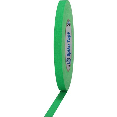 Pro Tapes 001SPIKE45FLGRN Pro Spike 1/2 Inch x 45 Yards - Florescent Green Cloth