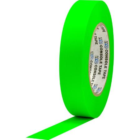 Pro Tapes 001C160MFLGRN Console Tape 1 Inch x 60 Yard - Fluorescent Green