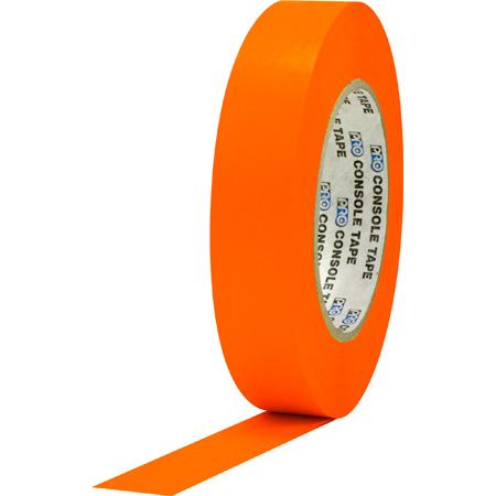 Pro Tapes 001C160MFLORA Console Tape 1 Inch x 60 Yard - Fluorescent Orange