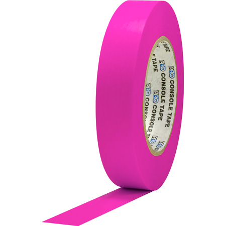Pro Tapes 001C160MFLPIN Console Tape 1 Inch x 60 Yard - Fluorescent Pink