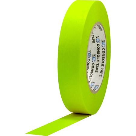 Pro Tapes 001C160MFLYEL Console Tape 1 Inch x 60 Yard - Fluorescent Yellow