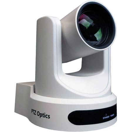 PTZOptics 12X Optical Zoom - 3G-SDI HDMI CVBS IP Streaming - 1920 x 1080p - 72.5 Degree FOV (White) US Style Power