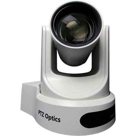 PTZOptics 30X Optical Zoom - NDI HX 3G-SDI HDMI CVBS IP Streaming - 60.7 Degree FOV (White with US Power Supply)