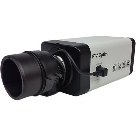 PTZOptics Variable Lens 1080p HD-SDI IP Network Box Camera with 2.8-12mm Lens (White) US Style Power