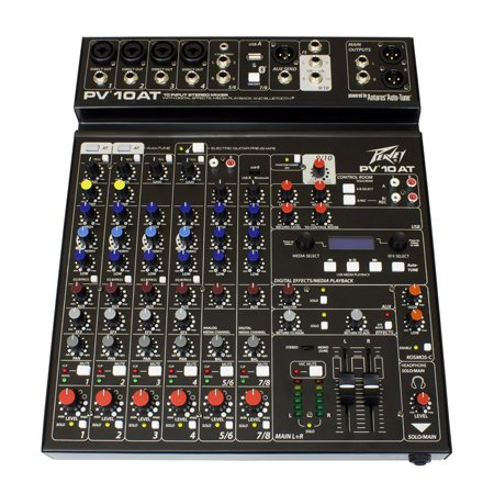 Peavey PV 10 AT Mixing Console with Bluetooth and Antares Auto