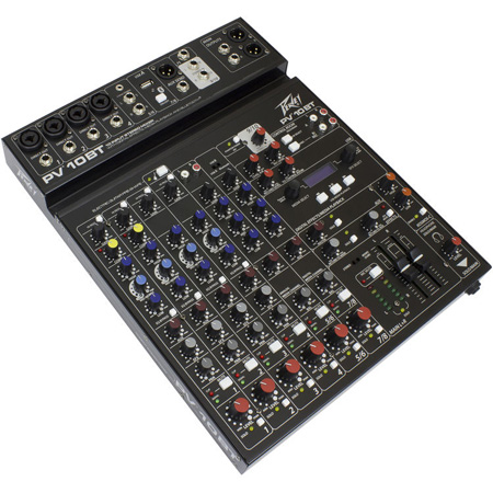 Peavey PV-10BT 10 Channel Pro Audio Mixer with Built In Digital Effects/Media Playback and Bluetooth