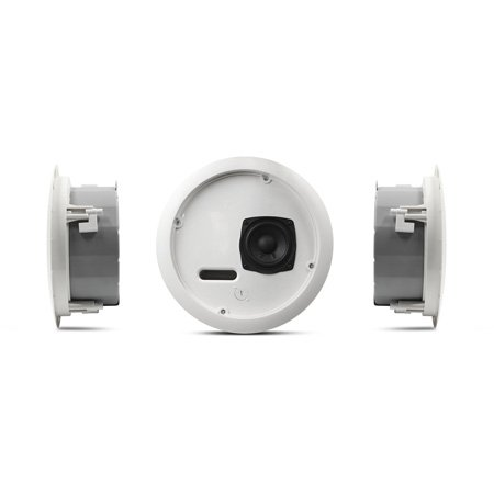 QSC AC-C2T-LP 2.75 Inch Full-Range Low Profile Ceiling Speaker - 70/100V Transformer with 8Ohm Bypass - Pair