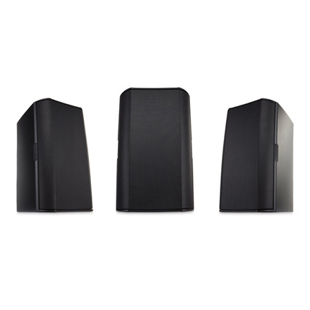 QSC AD-S4T-BK Two-Way 4 Inch Surface Mount Loudspeaker- Black - Pair