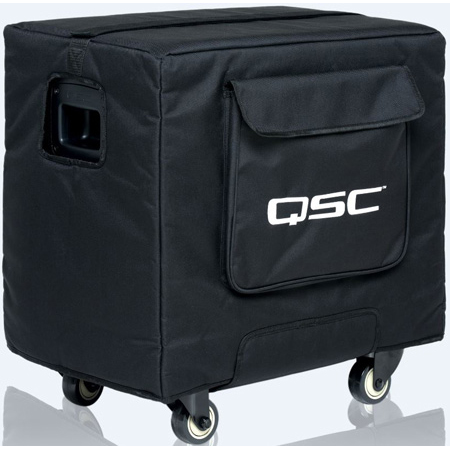 QSC KS112-CVR Soft Padded Cover Made with Weather Resistant Heavy-Duty Nylon/Cordura Material for Sub with Grille Guard