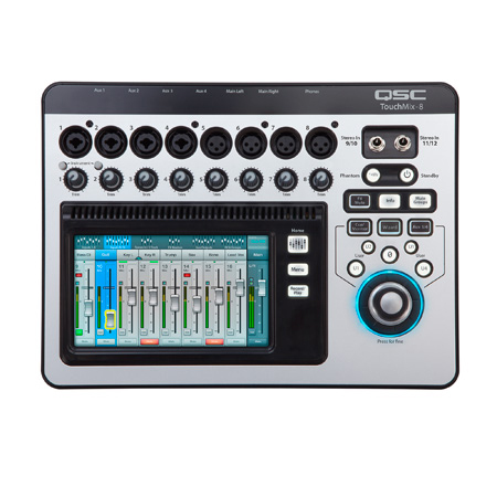 QSC TOUCHMIX-8 12-Channel Digital Audio Mixer with 4-Mic & 4-Mic/Line Inputs