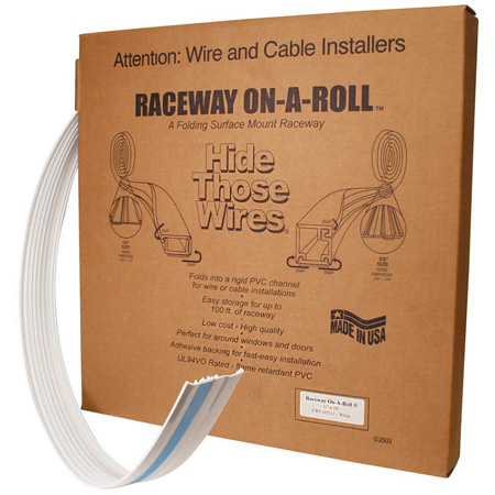 Quest FWF-14511 3/8 Inch Premiere Raceway On-A-Roll - White - 50 Foot
