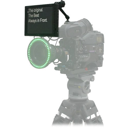 Autocue QTV 8inch Professional Series Direct View/ Straight Read Mounted to shoe on top of camera