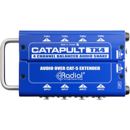 Radial Catapult TX4 Cat 5 Analog Snake Transmitter with 4 XLR-F Inputs and 4 XLR-M Outputs