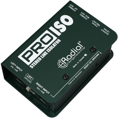 Radial PRO-ISO Balanced +4dB to -10dB Unbalanced Passive Converter - Voice Range