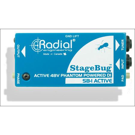 Radial SB-1 Compact Active DI For Acoustic Guitar & Bass 48V Phantom Powered