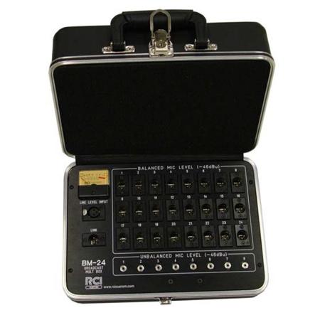 BM-24 Passive 1-input/24/8 Output Portable Audio Broadcast Media Press Multi Box