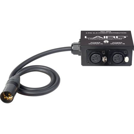 Laird RD1-BX6 12-Volt Twin Output 4-Pin XLR Power Splitter Box