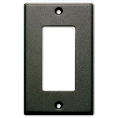 RDL CP-1B Single Cover Plate - Black