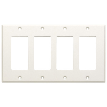 RDL CP-4 Quadruple Cover Plate - White