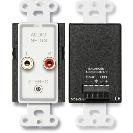 Radio Design Labs D-CIJ3D Consumer Input Jacks - Stereo - White/Gray