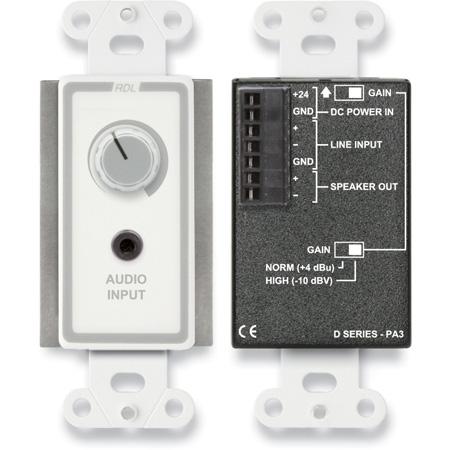 RDL D-PA3 3.5 Watt Audio Amplifier