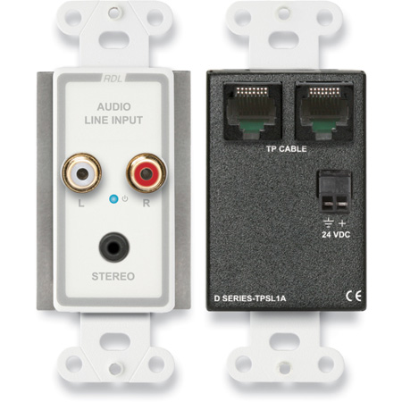 RDL D-TPSL1A Active Single-Pair Sender - Twisted Pair Format-A - Mini-Jack & Stereo RCA In