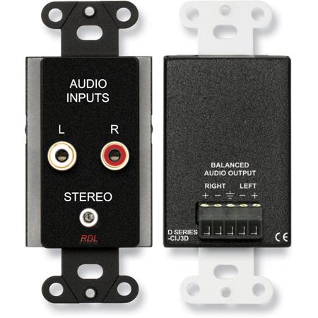 RDL DB-CIJ3D Consumer Input Jacks - Stereo