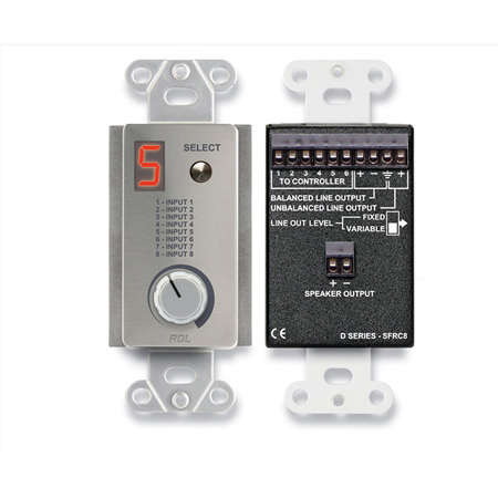 RDL DS-SFRC8 Room Control Station for SourceFlex Distributed Audio System
