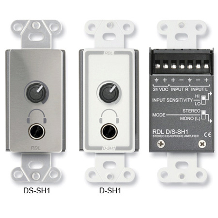 RDL DS-SH1 Stereo Headphone Amp - Decora Panel w/User Level Control