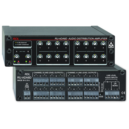 Radio Design Labs RU-ADA8D 8 Channel Stereo Audio Distribution Amplifier