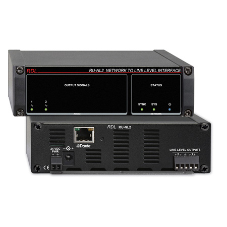 RDL RU-NL2 Network to Line Level Interface