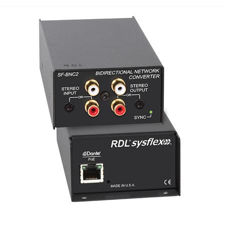 RDL SF-BNC2 Bidirectional Unbalanced Stereo Audio Network Interface